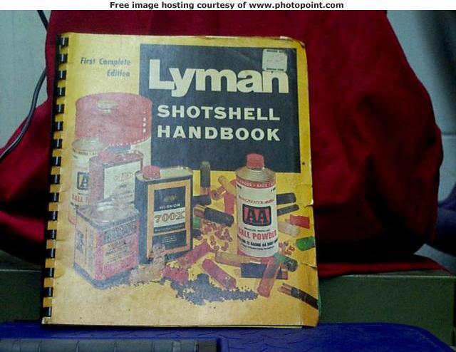 1st. ed. lyman shotshell handbook
